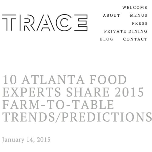 10 Atlanta Food Experts Share 2015 Farm-to-Table Trends/Predications